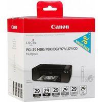 Für weitere Info hier klicken. Artikel: Canon Tinte PGI-29 Multipack MBK/PBK/DGY/GY/LGY/CO