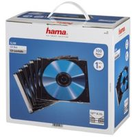 Für weitere Info hier klicken. Artikel: Hama CD-Leerhülle Slim, 100er-Pack, Transparent/Schwarz