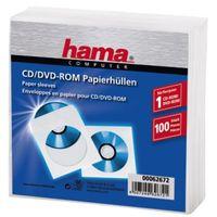 Für weitere Info hier klicken. Artikel: Hama CD-Rom Papierhüllen 100, weiß