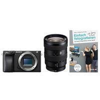 Für weitere Info hier klicken. Artikel: Sony Alpha 6400 (ILCE-6400) + SEL 16-55mm f/2,8 G (Farbe: schwarz) + Buch Einfach fotografieren lernen